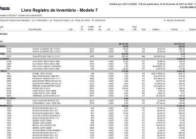 Livro Inventario modelo 7