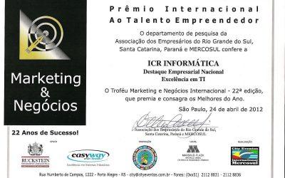 Prêmio Internacional – Marketing & Negócios